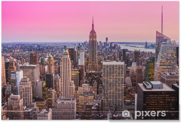 Póster Manhattan, New York City. EE.UU.. - América del Norte