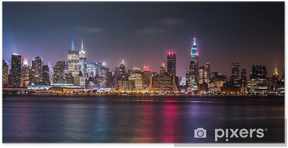 Poster Manhattan Panorama under Pride Weekend -