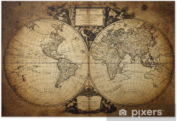 map of world 1752 Poster - Themes