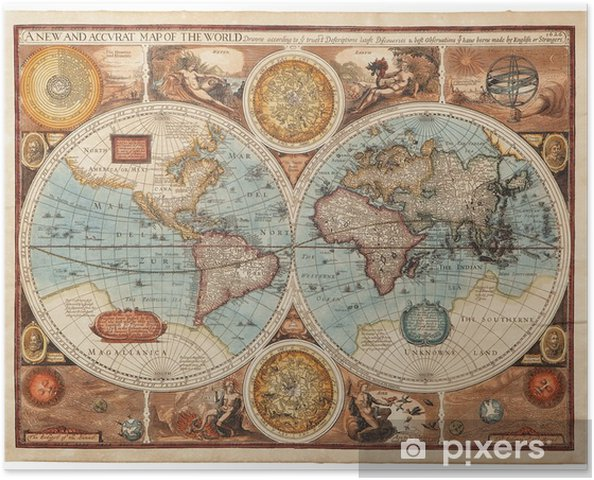 Póster Mapa antiguo (1626) -