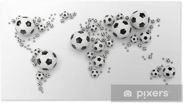 Póster Mapa del Mundo de fútbol de la bola - Justicia