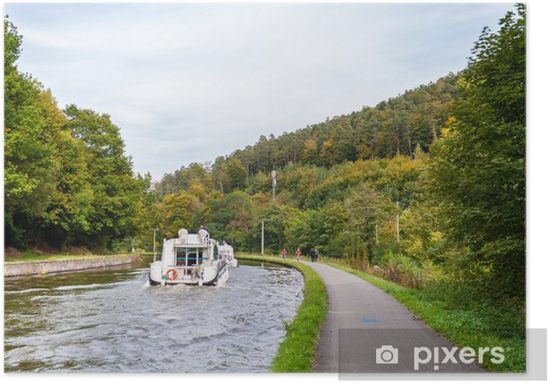Marne - Rhine Canal in Vosges mountains, Alsase, France Poster - Europe