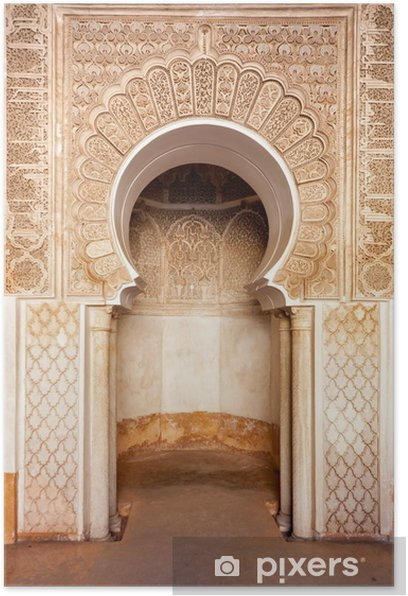 Marrakech madrasah ornament Poster - Africa