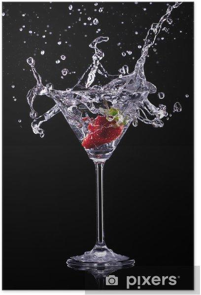 martini drink over dark background Poster -