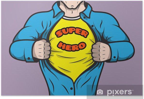 Poster Masked comique livre héros - Vie