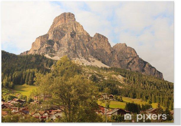 Poster Massif Sassongher, Dolomites - Europe