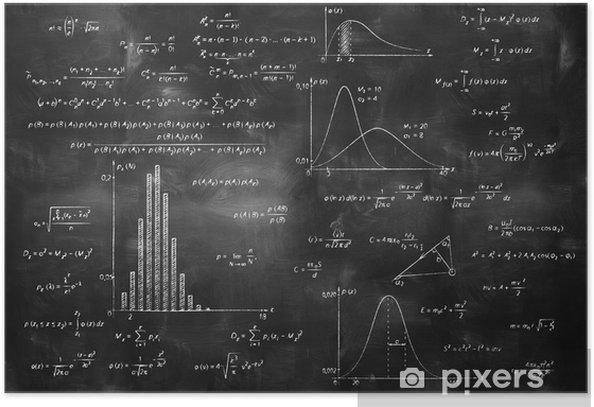 math physics formulas on chalkboard Poster - Lifestyle