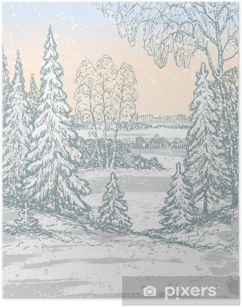 Poster Matin glacial - Saisons