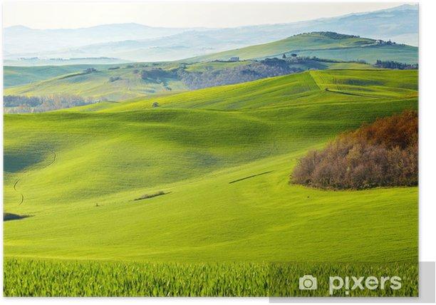 Poster Matin sur la campagne en Toscane - Thèmes