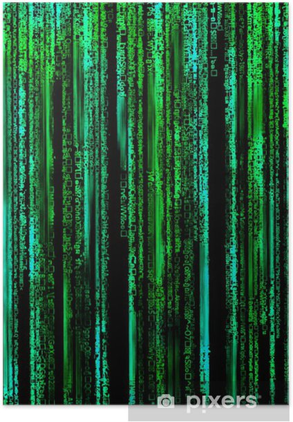 Matrix Letter code by the long green. Poster • Pixers ...