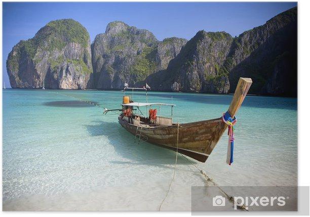 Maya Bay, Koh Phi Phi Ley, Thailand. Poster - Themes