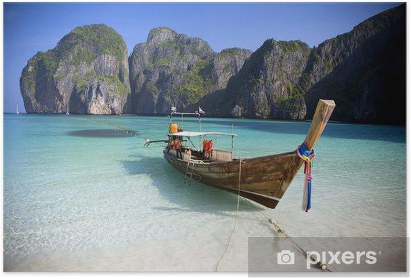 Poster Maya Bay, Koh Phi Phi Ley, Thaïlande. - Thèmes