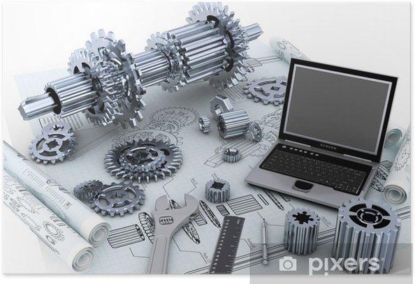 Poster Mechanical Technology concept d'ingénierie - Machines