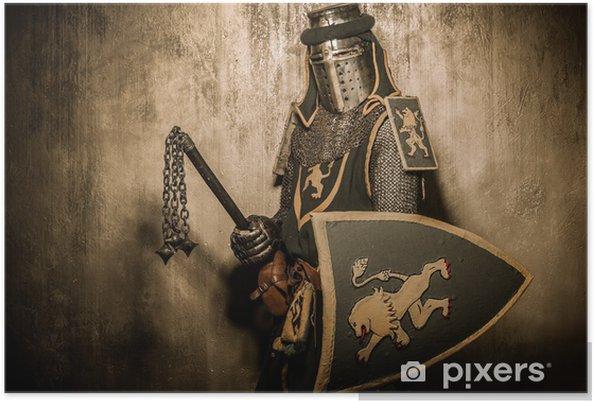 Poster Medeltida riddare med vapen - Riddare