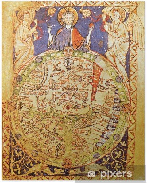 Jerusalem Center Of The World Map.Medieval Map With Jerusalem As Center Of The World Poster Pixers