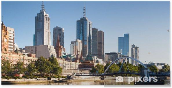 Poster Melbourne horizon de la Yarra Passerelle - Thèmes
