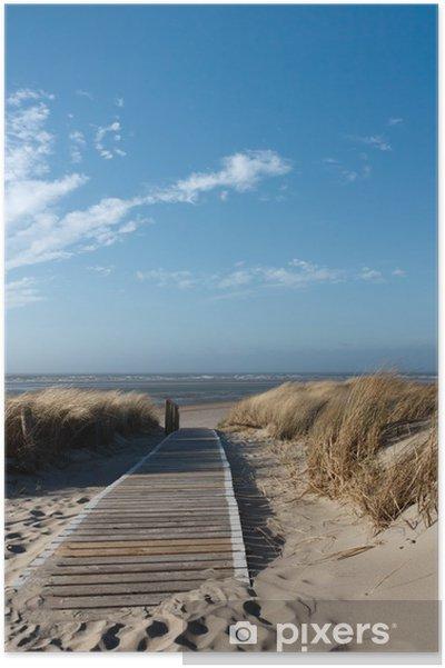 Poster Mer du Nord plage à Langeoog -