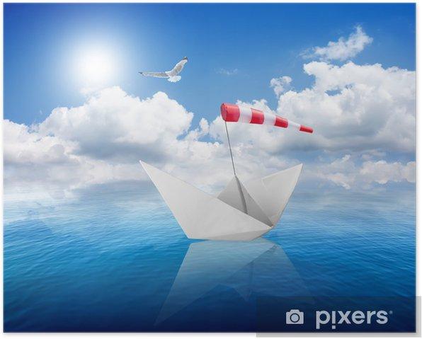 Poster Mer et le navire - Eau