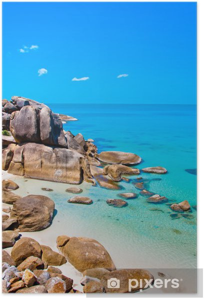 Poster Mer, terre et pierres à Koh Samui, Thaïlande - Asie