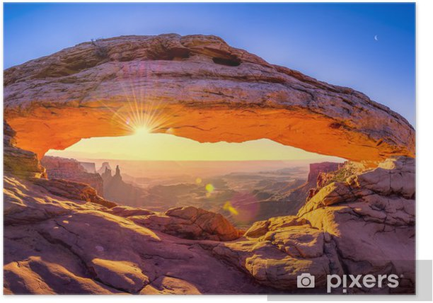 Mesa Arch Panorama Poster - Themes