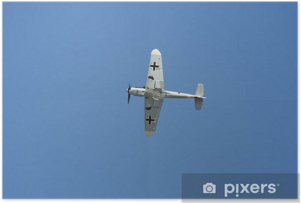 Poster Messerchmitt bf 109 en vol - Dans les airs