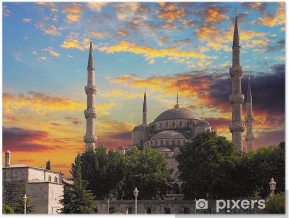 Póster Mezquita Azul en Estambul - Construcciones públicas