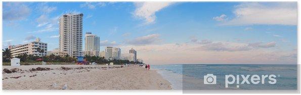 Poster Miami Beach vue sur la mer - Amérique