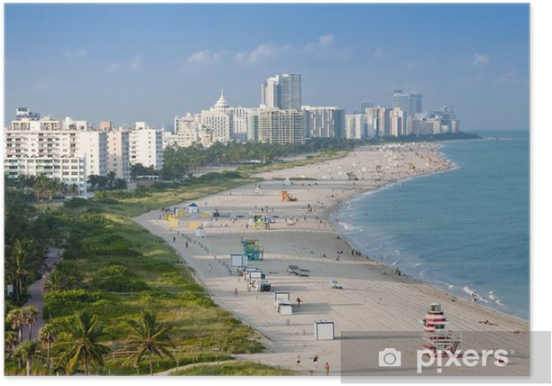 Poster Miami beach - Zomer