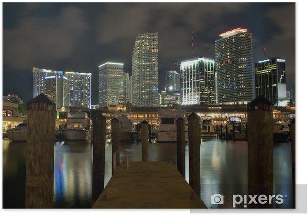 Poster Miami Cityscape - Thèmes