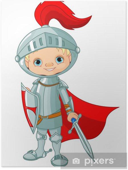 Poster Middeleeuwse ridder - Ridders