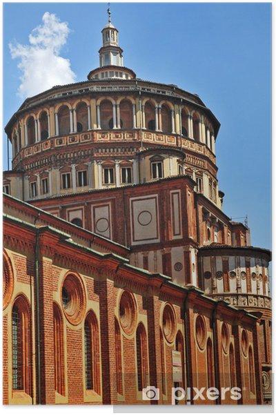 Poster Milan, la Basilique de Santa Maria delle Grazie - Europe