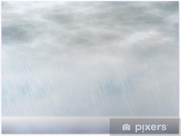 Poster Milieux pluie d'orage par temps nuageux - Ciel