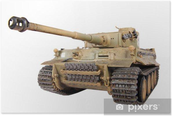 Poster Model van de tank Tiger geïsoleerd - Thema's