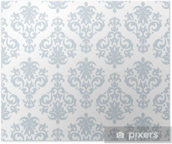 Poster Modèle de papier peint sans soudure dans un style vintage - Arrière plans