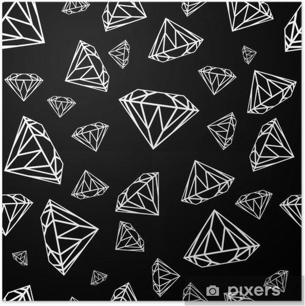 poster mod u00e8le sans couture de diamants  mod u00e8le vectoriel avec des diamants  mod u00e8le sans couture