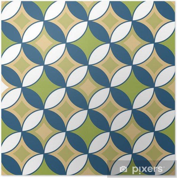 Poster Modèle sans couture rétro avec des cercles10 - Ressources graphiques