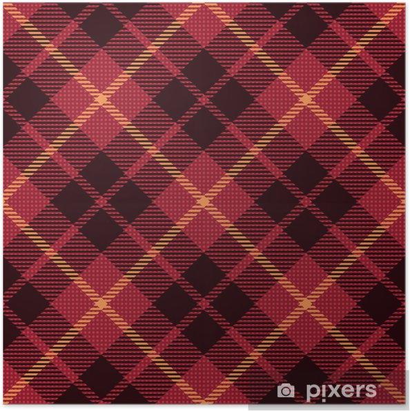 de127a3bd Póster Modelo inconsútil de la tela escocesa de tartán 3