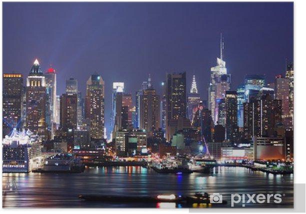 Poster Moderne scène de nuit City. - Amérique