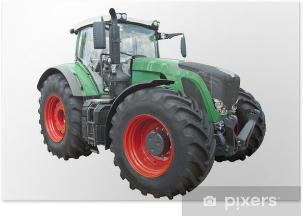 Poster Moderne tractor - Landbouw