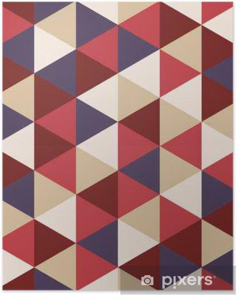 Póster Moderno del vector patrón de colores sin fisuras escuadra de dibujo, fondo geométrico abstracto de color, una almohada de impresión multicolor, retro textura, diseño de moda del inconformista - Recursos gráficos