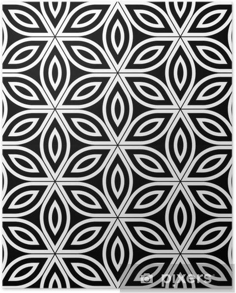Poster Moderno Del Vector Sin Fisuras Patron De Geometria Sagrada