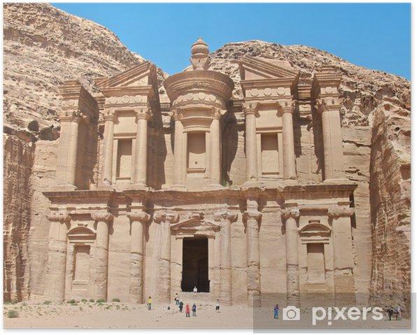 Poster Monastère de petra - Moyen Orient