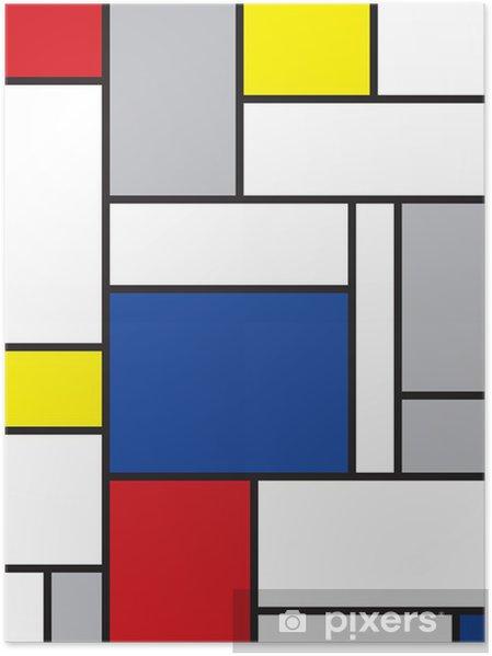 Poster Mondrian a inspiré l'art -
