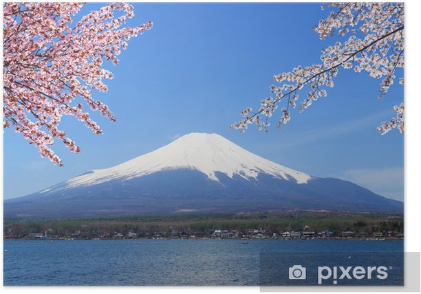 Poster Mont Fuji au lac Yamanaka, Japon - Thèmes