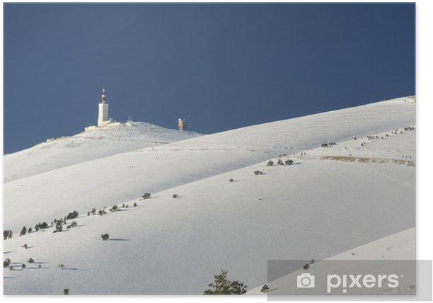 mont ventoux enneigé Poster - Mountains