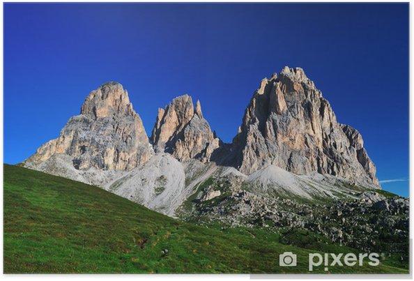 Poster Montagne, Dolomites, Alpes, Italie - Vacances