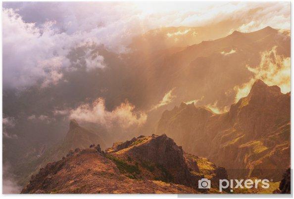 Póster Montañas en Madeira - Vacaciones