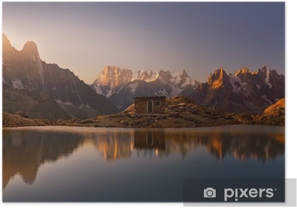 Monte Bianco e Alpi riflesse nel Lago Bianco Poster - Destinations