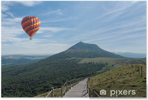 Poster Montgolfière - Dans les airs