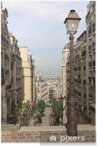 Poster Montmartre in Parijs - Europa